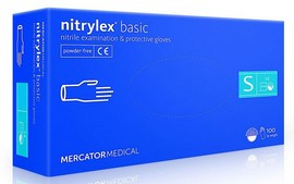 Mercator Medical Nitrylex Basic Nitril Handschuhe blau S